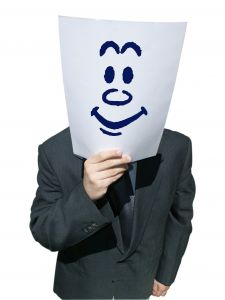 Hiding behind a smiley face is unlikely to protect you from angry multi millionaires